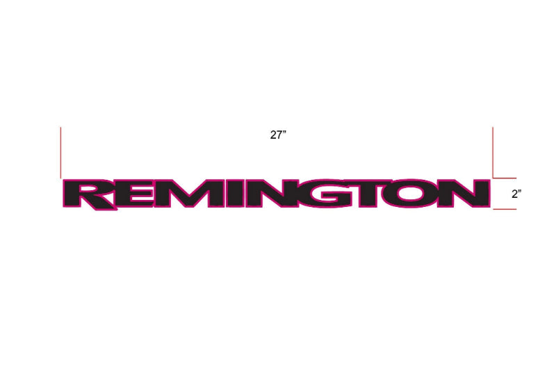 Remington Off-Road Decal Kits Piece 1 for Full JEEP Kit Remington Off-Road Die-Cut Decals - PINK