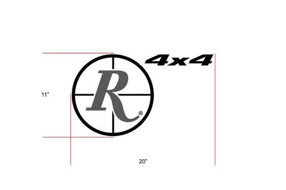 Remington Off-Road Decal Kits Piece 1 for Full Truck Kit Remington Off-Road Die-Cut Decals - BLACK