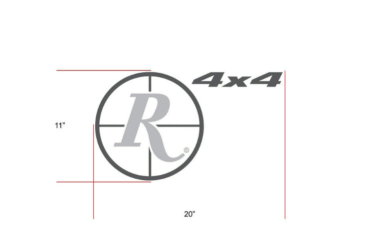 Remington Off-Road Decal Kits Piece 1 for Full Truck Kit Remington Off-Road Die-Cut Decals - GREY