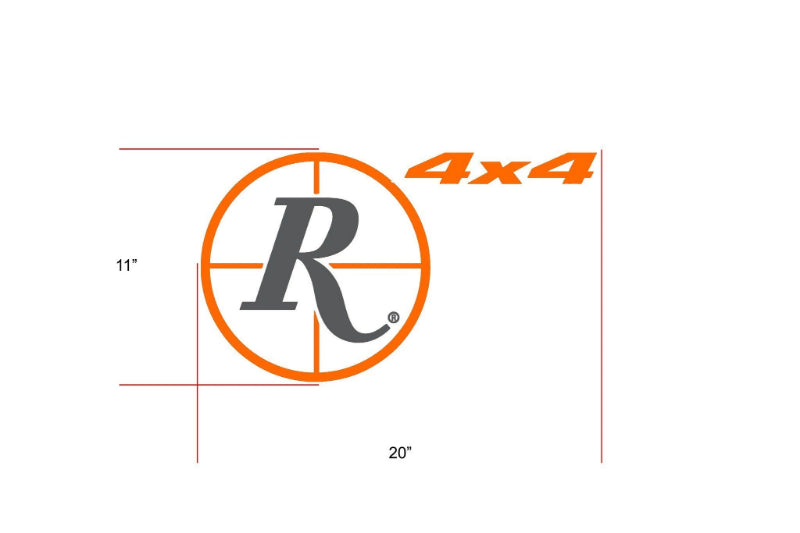 Remington Off-Road Decal Kits Piece 1 for Full Truck Kit Remington Off-Road Die-Cut Decals - ORANGE