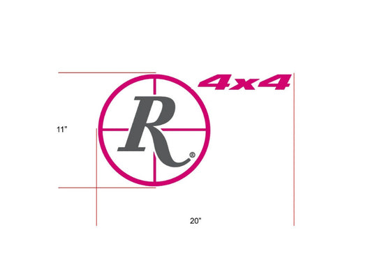 Remington Off-Road Decal Kits Piece 1 for Full Truck Kit Remington Off-Road Die-Cut Decals - PINK