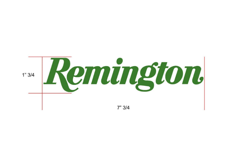 Remington Off-Road Decal Kits Piece 2 for Full JEEP Kit Remington Off-Road Die-Cut Decals - GREEN