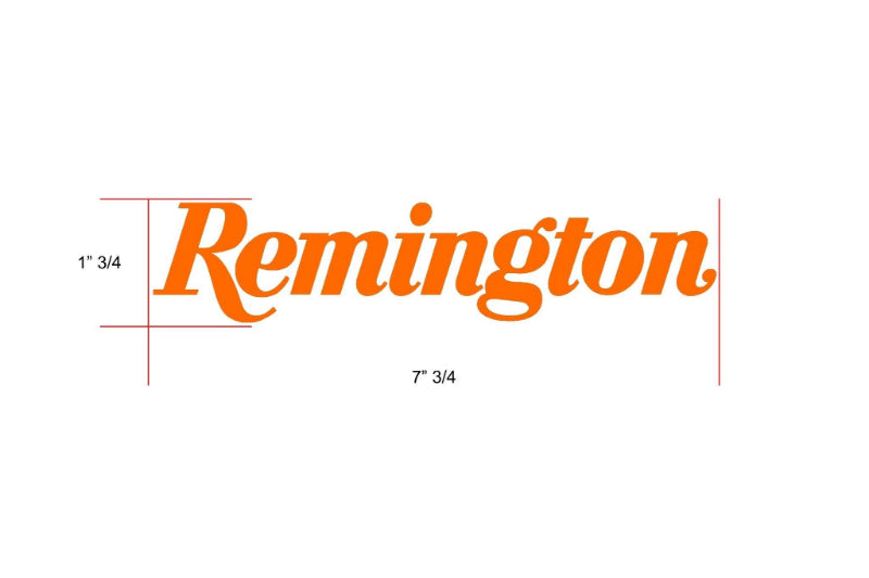 Remington Off-Road Decal Kits Piece 2 for Full JEEP Kit Remington Off-Road Die-Cut Decals - ORANGE
