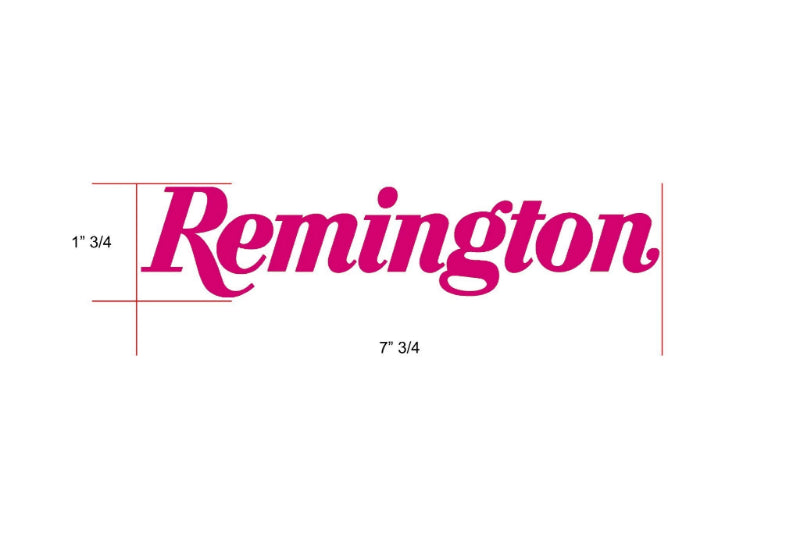 Remington Off-Road Decal Kits Piece 2 for Full JEEP Kit Remington Off-Road Die-Cut Decals - PINK