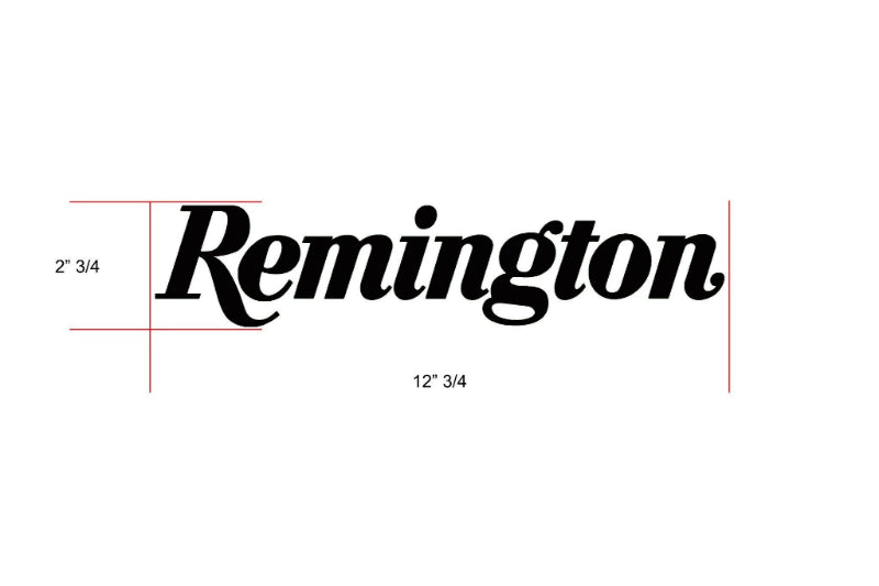 Remington Off-Road Decal Kits Piece 2 for Full Truck Kit Remington Off-Road Die-Cut Decals - BLACK