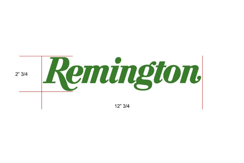 Remington Off-Road Decal Kits Piece 2 for Full Truck Kit Remington Off-Road Die-Cut Decals - GREEN