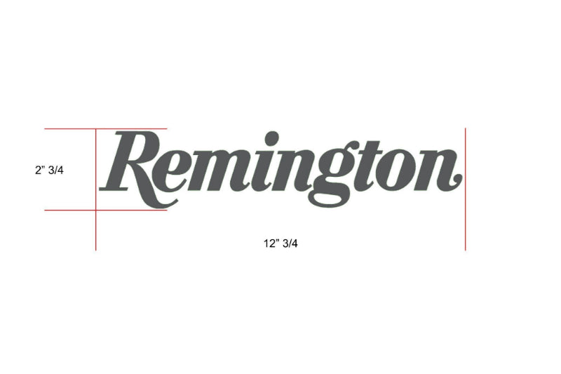 Remington Off-Road Decal Kits Piece 2 for Full Truck Kit Remington Off-Road Die-Cut Decals - GREY