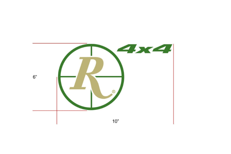 Remington Off-Road Decal Kits Piece 3 for Full JEEP Kit Remington Off-Road Die-Cut Decals - GREEN