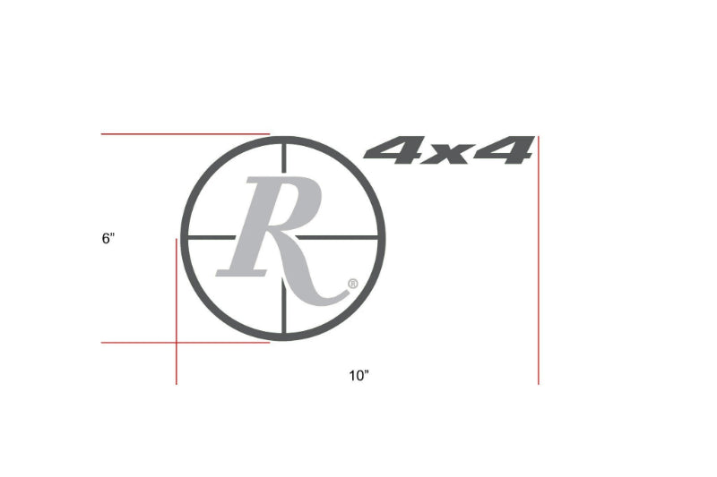 Remington Off-Road Decal Kits Piece 3 for Full JEEP Kit Remington Off-Road Die-Cut Decals - GREY