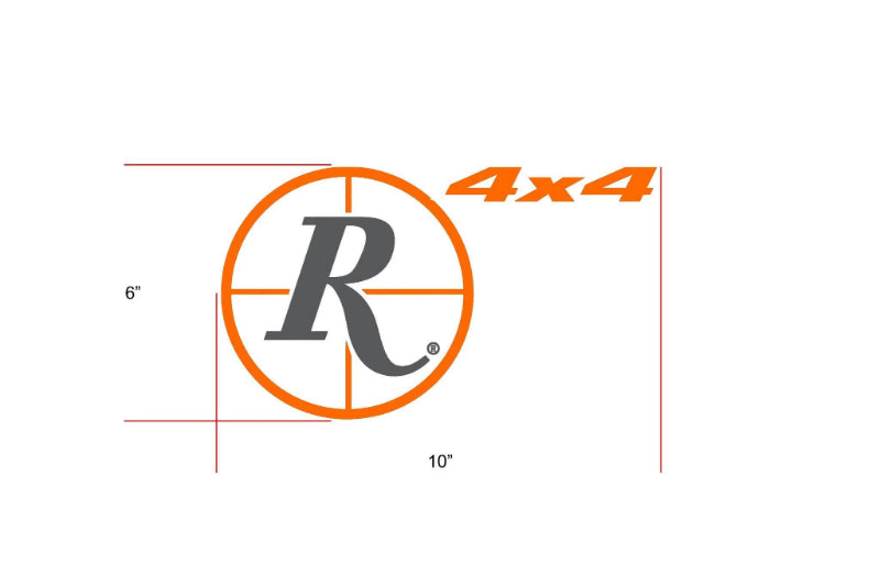 Remington Off-Road Decal Kits Piece 3 for Full JEEP Kit Remington Off-Road Die-Cut Decals - ORANGE