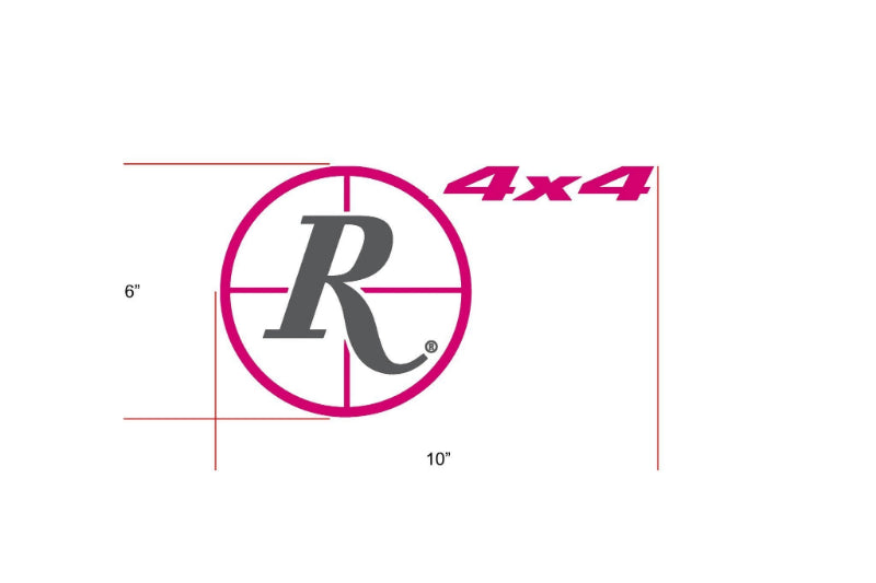 Remington Off-Road Decal Kits Piece 3 for Full JEEP Kit Remington Off-Road Die-Cut Decals - PINK