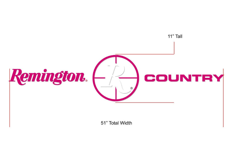Remington Off-Road Decal Kits Piece 3 for Full Truck Kit Remington Off-Road Die-Cut Decals - PINK
