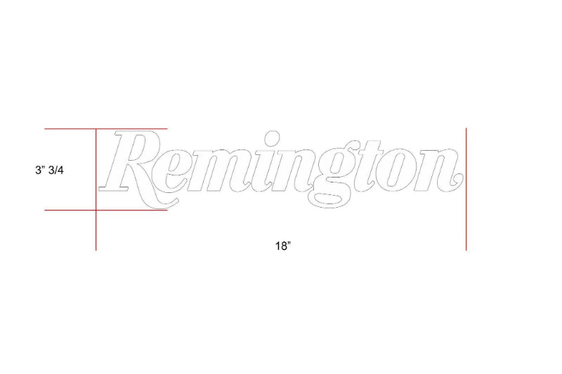 Remington Off-Road Decal Kits Piece 6 for Full Truck Kit Remington Off-Road Die-Cut Decals - BLACK