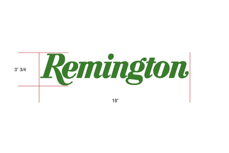 Remington Off-Road Decal Kits Piece 6 for Full Truck Kit Remington Off-Road Die-Cut Decals - GREEN