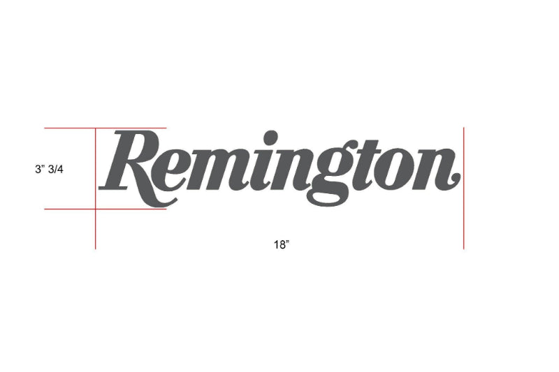 Remington Off-Road Decal Kits Piece 6 for Full Truck Kit Remington Off-Road Die-Cut Decals - GREY