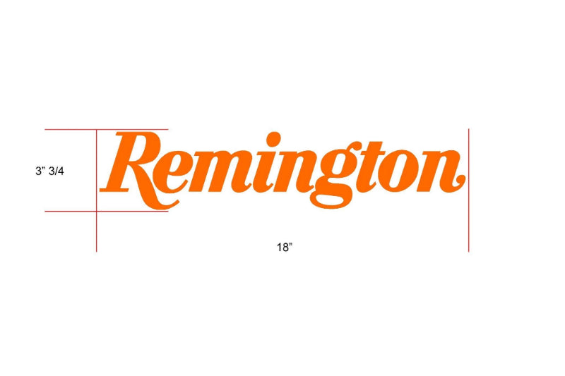 Remington Off-Road Decal Kits Piece 6 for Full Truck Kit Remington Off-Road Die-Cut Decals - ORANGE