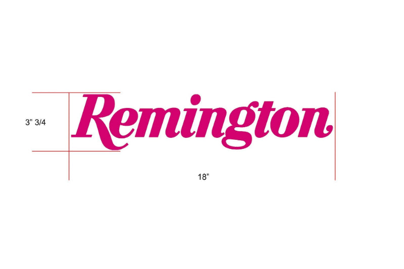 Remington Off-Road Decal Kits Piece 6 for Full Truck Kit Remington Off-Road Die-Cut Decals - PINK