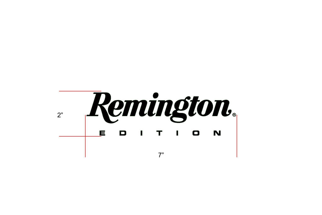 "Remington Off-Road Decal Kits ""Remington Edition"" for Truck & Jeep Remington Off-Road Die-Cut Decals - BLACK"
