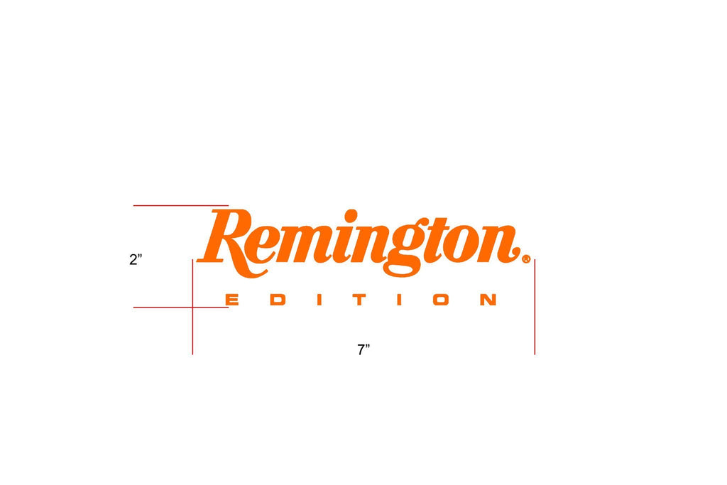 "Remington Off-Road Decal Kits ""Remington Edition"" for Truck & Jeep Remington Off-Road Die-Cut Decals - ORANGE"
