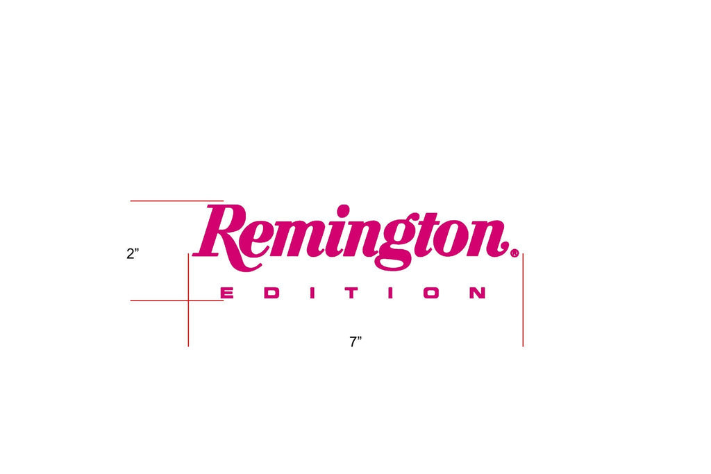 "Remington Off-Road Decal Kits ""Remington Edition"" for Truck & Jeep Remington Off-Road Die-Cut Decals - PINK"