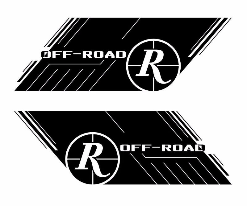 "Remington Off-Road Decal Kits Remington Off-Road Die-Cut Decals ""Off-Road"" 2pc / L&R Sides"