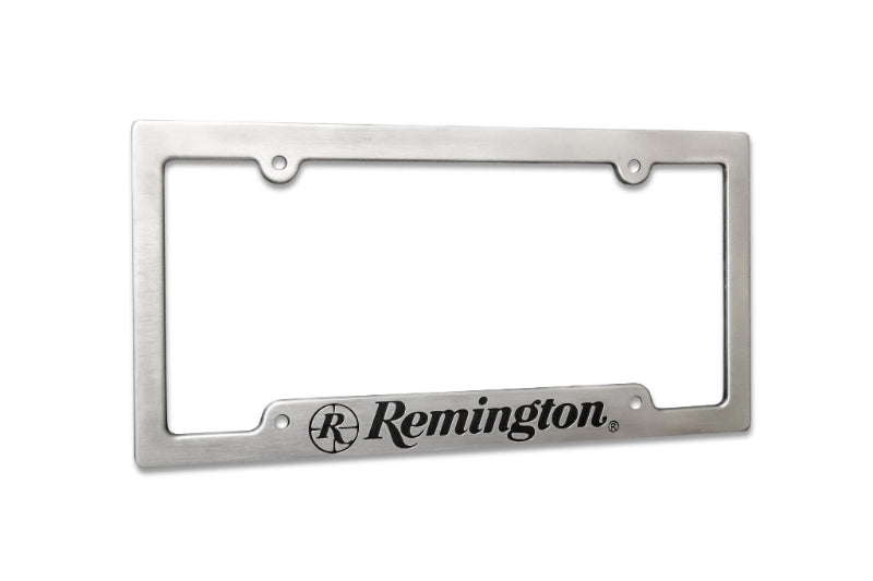 Remington Off-Road License Plate Frame Brushed Aluminum Remington Off-Road Aluminum License Plate Frame