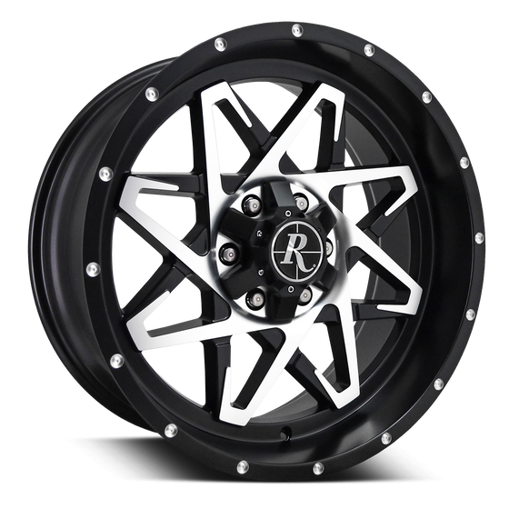 Remington Off-Road Truck & SUV Wheels 20x9.0 | 5x127/5x139.7 | et0mm | 5.0 in | 78.1mm Remington® Off-Road Wheels Caliber | Satin Black Machined Face