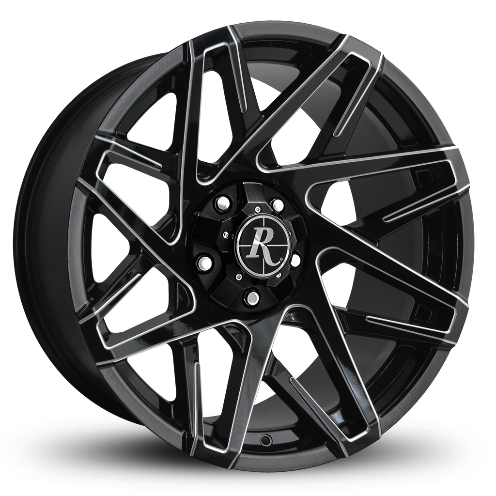 Remington Off-Road Truck & SUV Wheels 20x9.0 | 5x139.7/5x150 | et15mm | 5.6 in | 110mm Remington® Off-Road Canyon | Black Milled Edges