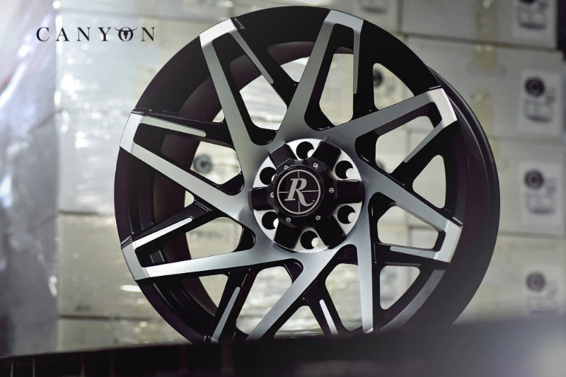 Remington Off-Road Truck & SUV Wheels 20x9.0 | 6x135/6x139.7 | et0mm | 5.0 in | 106.2mm Remington Off-Road Wheels Canyon Wheels | Satin Black Machined Face