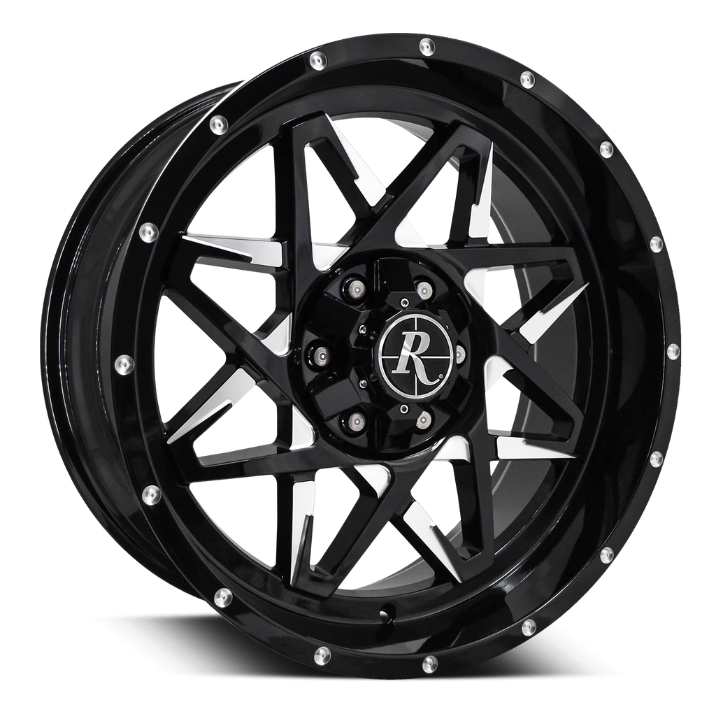 "Remington Off-Road Truck & SUV Wheels Remington® Off-Road Wheels Caliber | ""Battle Edition"" Gloss Black Milled Face"