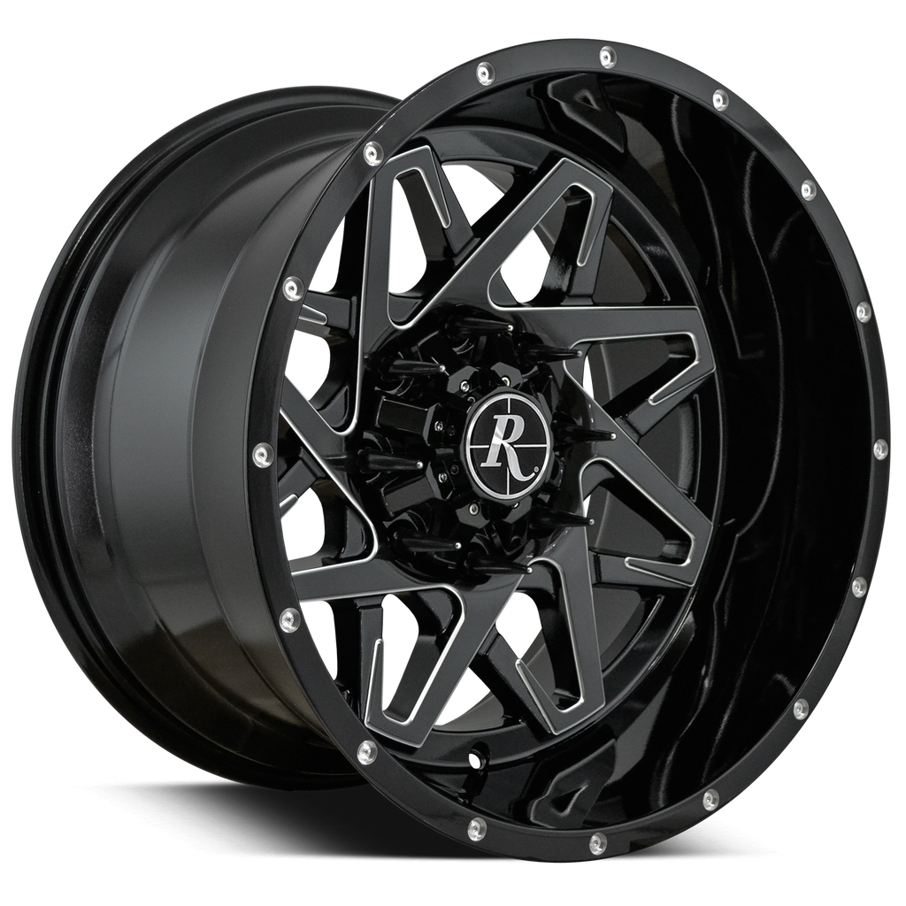 Remington Off-Road Wheels Caliber Gloss Black Milled 20x12.0 in 8x180 & 8x170