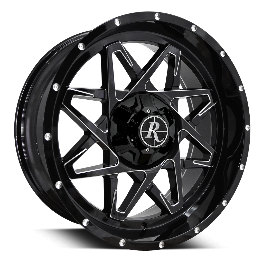 Remington Off-Road Truck & SUV Wheels Remington® Off-Road Wheels Caliber | Gloss Black w Milled Spokes