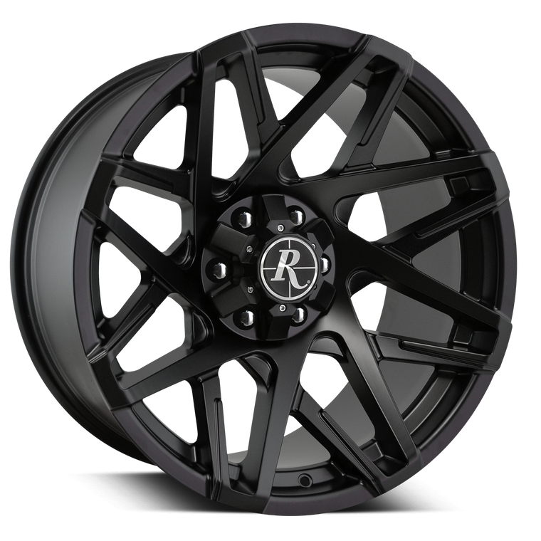 Remington Off-Road Wheels Canyon in All Satin Black fro Chevy, GMC, Ford, Nissan, and Toyota Trucks