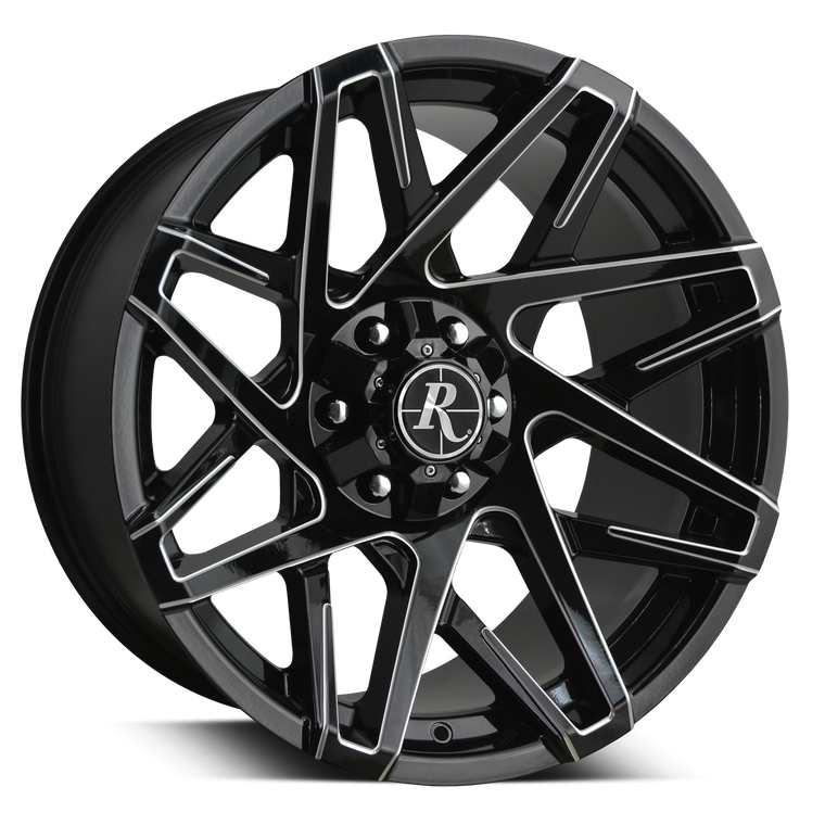 Remington Off-Road Truck & SUV Wheels Remington® Off-Road Wheels Canyon Wheels | Gloss Black w Milled Spoke Edges