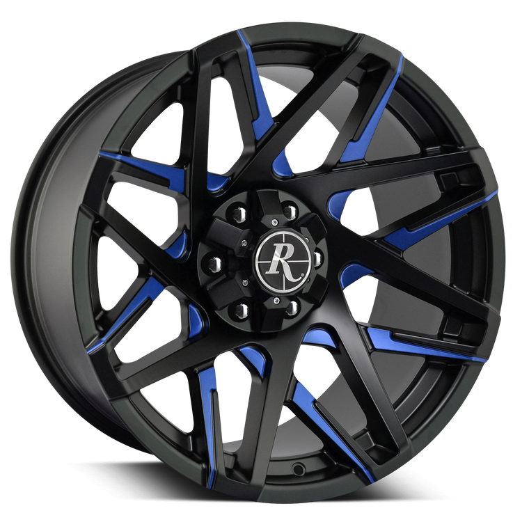 Off-Road Blue Truck Wheel Rims by Remington Off-Road 20x9.0 & 20x10.0 Jeep, Chevy, GMC, Toyota, RAM, FORD, Dodge SUV