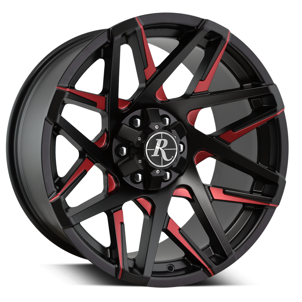 Remington Off-Road Truck & SUV Wheels Remington® Off-Road Wheels Canyon Wheels | Satin Black Milled Red