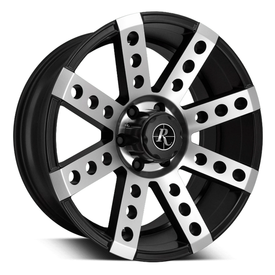 Remington Off-Road Truck Wheels 17x9.0 | 5x127 | et-16mm | 4.4 in | 71.5mm Remington Off-Road Wheels Buckshot Truck | Satin Black Machined Face