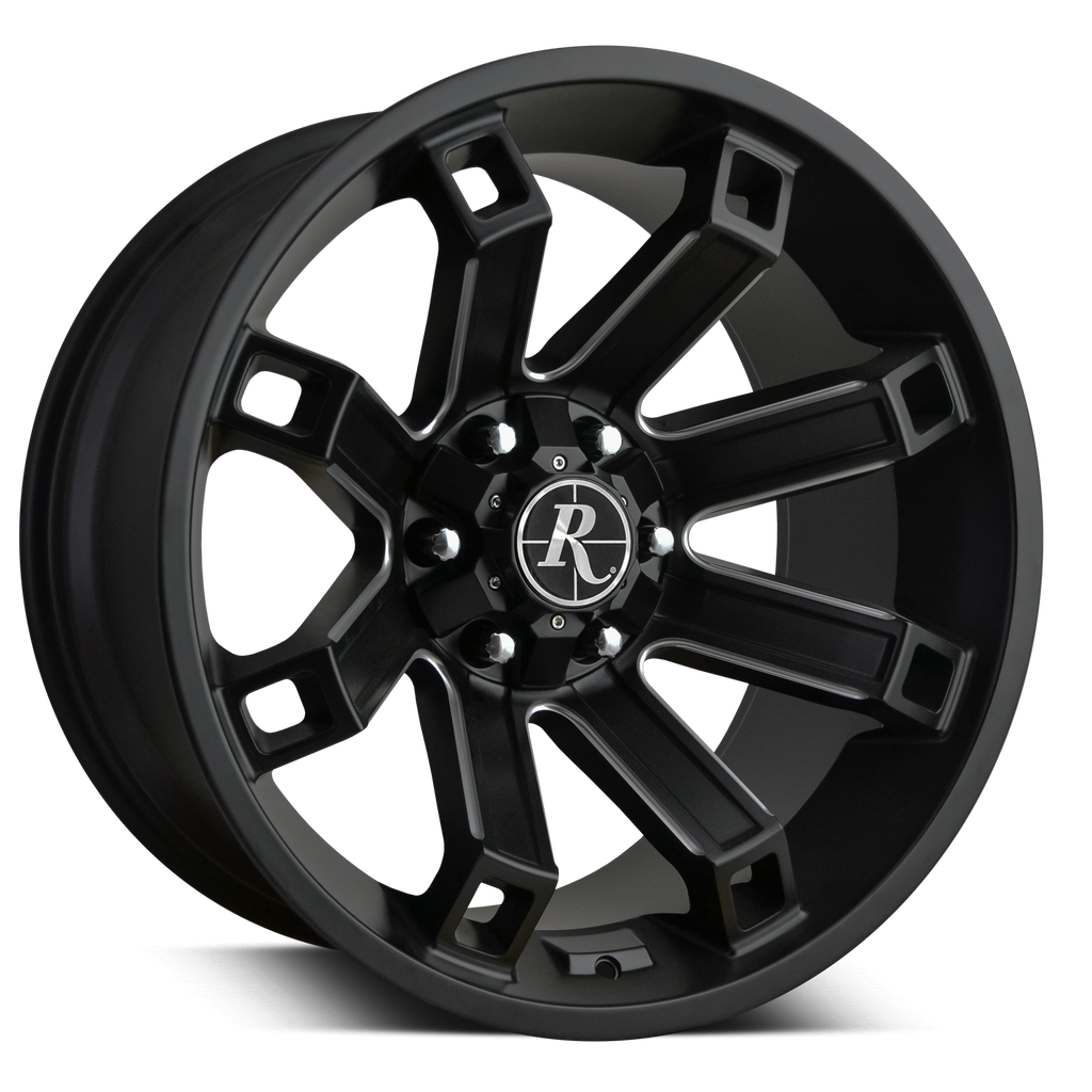 Remington Off-Road Truck Wheels 20x10.0 | 6x135/6x139.7 | et-35mm | 5.0 in | 106.2mm Remington® Off-Road Wheels Hollow Point Truck | Satin Black Milled
