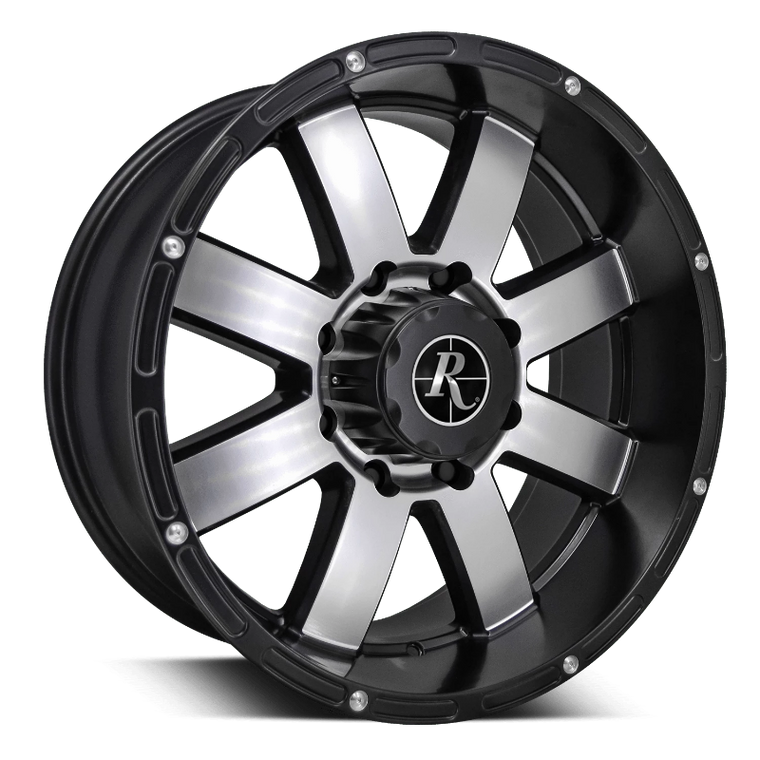 Remington Off-Road Truck Wheels 20x9.0 | 5x127 | et0mm | 5.0in | 71.5mm Remington Off-Road Wheels 8-Point Truck | Satin Black Machined Face