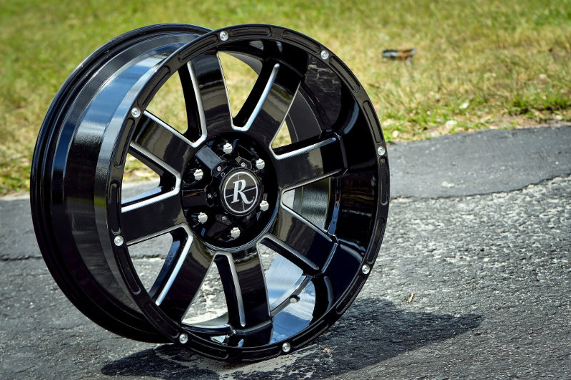 Remington Off-Road Truck Wheels 20x9.0 | 6x120/6x139.7 | et0mm | 5.0 in | 78.1mm Remington Off-Road 8-Point Wheels | Gloss Black Milled Edges