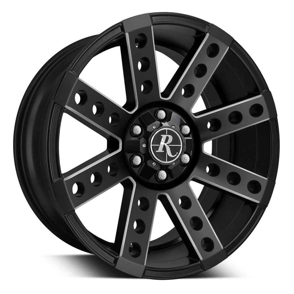 Remington Off-Road Truck Wheels 20x9.0 | 6x135/6x139.7 | et0mm | 5.0 in | 106.2mm Remington® Off-Road Wheels Buckshot Truck | Satin Black Milled