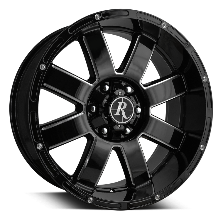 Remington Off-Road Truck Wheels Remington® Off-Road 8-Point Wheels | Gloss Black Milled Edges