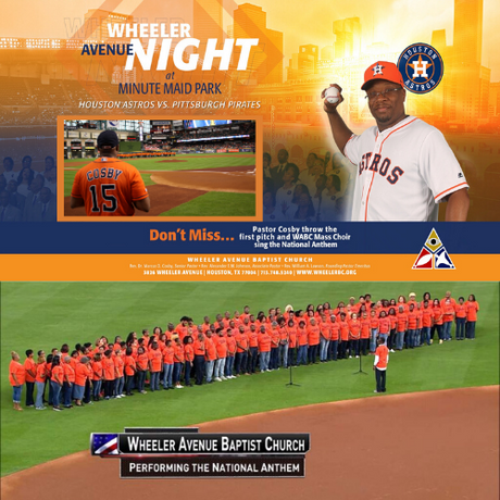 Pastor Cosby Ceremonial First Pitch and Wheeler Avenue Mass Choir National Anthem | 06/25/19