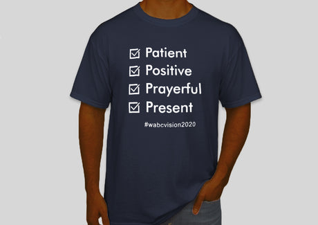 Four P's Tshirt | Navy Blue with White Lettering