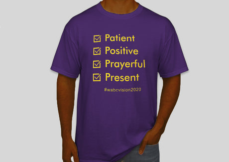 Four P's Tshirt | Purple with Gold Lettering