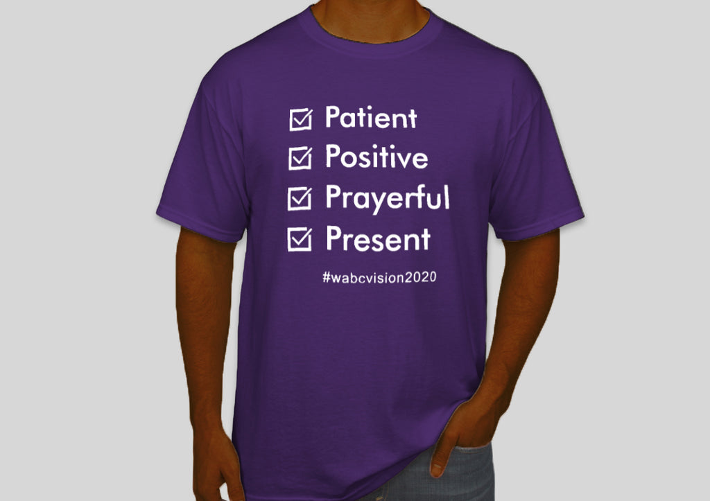 Four P's Tshirt | Purple with White Lettering