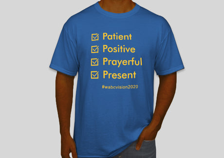 Four P's Tshirt | Royal Blue with Gold Lettering