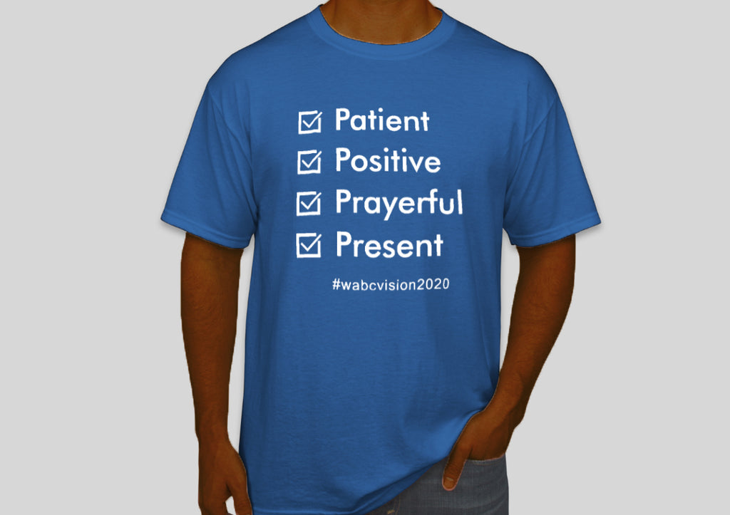 Four P's Tshirt | Royal Blue with White Lettering