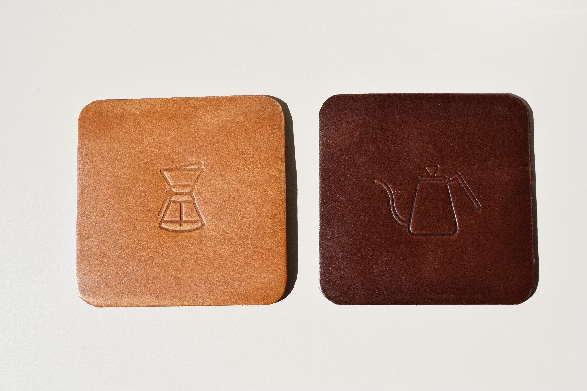Leather Coaster by A.L.S