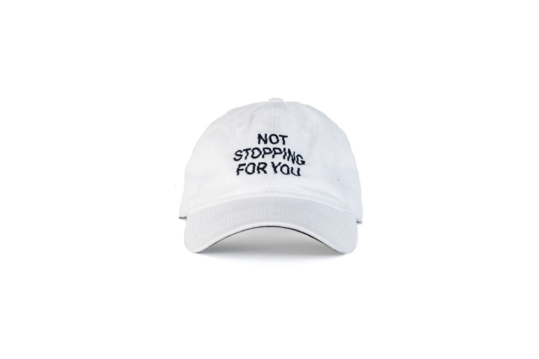 Not Stopping For You Cap / White